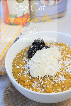 Pumpkin Pie Steel Cut Oats