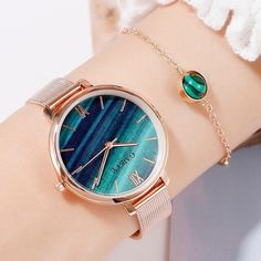Gaiety Luxury 2 PCS Set Watch Women Rose Gold Water Drill Bracelet Watch Jewelry Ladies Female Hour Casual Quartz Wristwatches - 1 watch and bracelet watches jewelry Trendy Watches, High End Watches, Elegant Watches, Beautiful Watches, Cool Watches, Cheap Watches, Women's Watches, Wrist Watches, Luxury Watches Women