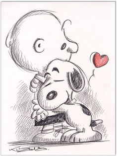 Snoopy and Charly Brown. Sketchbook Drawings, Pencil Art Drawings, Cartoon Drawings, Cartoon Art, Drawing Sketches, Disney Character Drawings, Cute Disney Drawings, Disney Sketches, Cute Drawings