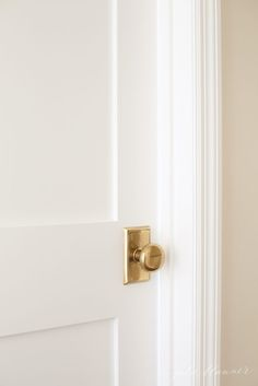Add charm to your home by replacing hollow core doors with paneled doors. Hardware by Emtek.
