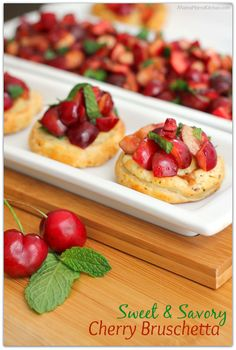 ... dessert cherry hazelnut bruschetta dessert recipes dishmaps sweet and