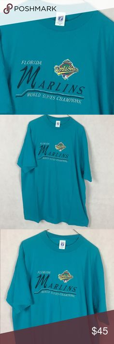 Florida Marlins Championship Embroider Shirt XXL  Pre Owned In Great  Conditions!   No 462d1e427
