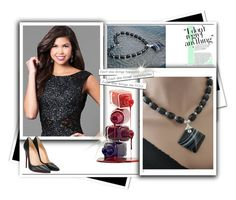 """Black Necklace"" by jewelrybyirina ❤ liked on Polyvore featuring Christian Louboutin"