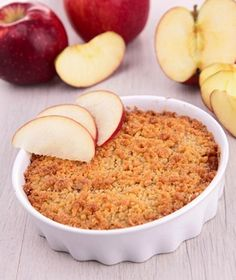 Vegan apple crumble by VegKitchen - perfect for all those apples coming into season! -Sarah