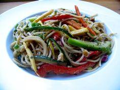 Thai Pasta Salad » The Daily Dish - 6.9 mg of Sodium per serving.