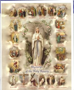 Mysteries of The Rosary X Art Print Holy Rosary, Rosary Catholic, Catholic Art, Religious Art, Blessed Mother Mary, Blessed Virgin Mary, Rosary Mysteries, Hail Holy Queen, Hail Mary