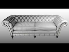 3DS Max 2015 Leather Chesterfield sofa Seat || Advanced Modeling Tutorial || The Learning Hub 2017 - YouTube