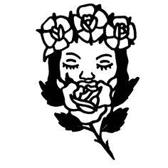 Traditional Tattoo Old School, Traditional Style Tattoo, Traditional Roses, American Traditional, Tattoos Skull, Line Tattoos, Black Tattoos, Stick Poke Tattoo, Indie Tattoo