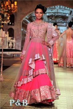 PCJ Delhi Couture Week 2012 - Manish Malhotra — The Purple Window Bridal Mehndi Dresses, Bridal Outfits, Bridal Gowns, Wedding Gowns, Designer Anarkali, Couture Week, Saris, Indian Dresses, Indian Outfits