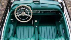 Old blue car interior Mercedes Benz Sedan, Nissan, Truck Interior, Interior Shop, Interior Ideas, Interior Design, Gif Disney, Driving School, Best Classic Cars