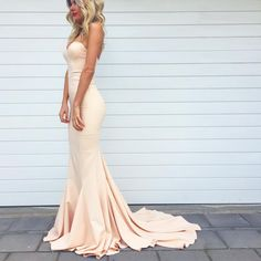 """""""Elle Zeitoune Arianna Gown in Nude $99 to hire in sizes 6 and 12. Also available in sizes 8,10 and 12 in NAVY. (Our prices include dry cleaning). We are…"""""""