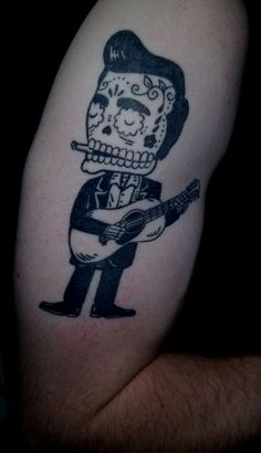Johnny Cash Sugar Skull
