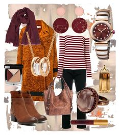 """""""A Fall Afternoon"""" by redpinkwhatever ❤ liked on Polyvore featuring Shin Choi, Victoria, Victoria Beckham, Calvin Klein Jeans, Yves Saint Laurent, Salvatore Ferragamo, Miz Mooz, Bulgari, Joanna Laura Constantine, Thierry Mugler and Chanel"""