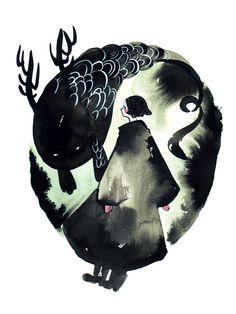 http://maruti-bitamin.tumblr.com/post/56075052582/tomodachi-ink-watercolour-scribble