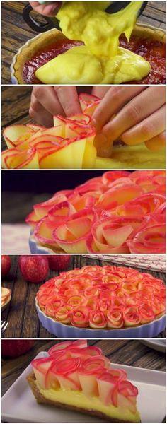 Uma torta de encher os olhos… e a barriga! Ahhh, como eu AMO essa receita! #torta #delícia #sobremesa