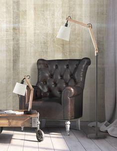 JANKO to połączenie metalu, drewna i tkaniny. Vintage Stil, Insta Photo, Modern, Accent Chairs, Led, Furniture, Beautiful, Home Decor, Environment