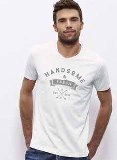 Johnny - Herren T-Shirt mit V-Ausschnitt