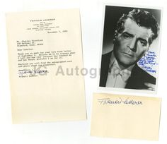 Francis Lederer - Classic Film Actor - Collection of 3 Autographed Items | eBay
