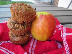 zucchini apple spice muffins - just made these except i used 1/2 the amount of honey specified in the recipe.  Came out DELISH.