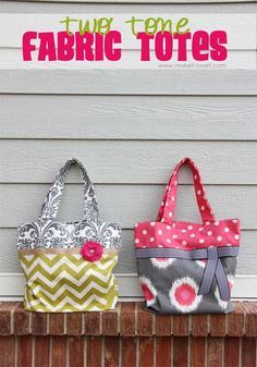 Free Tote Bag Pattern And Tutorial Two Tone Fabric
