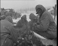 Soldiers in the cold, Korea, 1950: http://www.britishpathe.com/video/the-story-of-death-valley