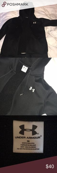 Women's under armour zip up Great condition! Looks like new! Heavy with fleece inside liner. Great for after workout or to wear outdoors! Under Armour Jackets & Coats