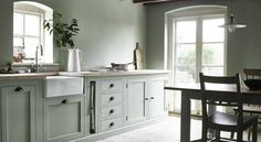 Five new kitchen trends to know now. – The Edited All White Kitchen, Country Kitchen, New Kitchen, Kitchen Decor, Kitchen Ideas, Sage Kitchen, Kitchen Furniture, Country Homes, Küchen Design
