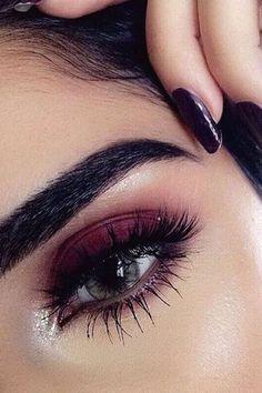 Burgundy Eyeshadow Looks