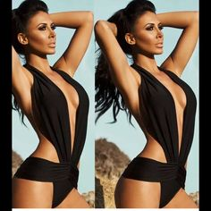 COMING SOON.  Sexy One Piece Monokini Bikini Black color only sizes small to XL will be available.  Please indicate size you want so i can tag you when available, thx. New with no tags !!! None Swim One Pieces