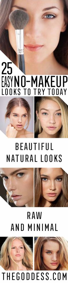 Easy No-Makeup Looks to Try Today - Easy Tips and Guides for a Great Natural Look for School or Everyday - A Tutorial for Any Kind of Style, from Dark Skin or Pale Skin to Looks for Asian, African American and Latina Styles, to Looks for Blue, Green and Brown Eyes - thegoddess.com/no-makeup-looks