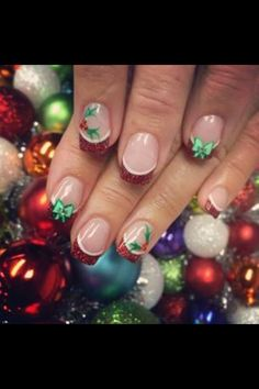 Holly and bows