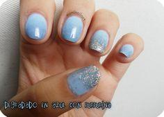 Degradado en azu con Essie y Rare Nails #nailart http://esminailart.blogspot.com.es/2014/05/degradado-azul-essie-rare-nails.html