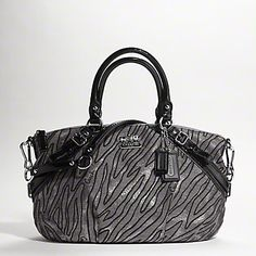 fe12f94523c My favorite Coach purse.COACH new madison lurex zebra jacquard sophia  satchel