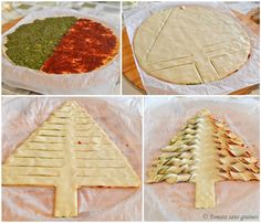 Sapin feuilleté {Noël} – Tomate Sans Graines, le blog engagé de Stéphanie Faustin Mini Bagels Recipe, Bagel Recipe, Christmas Dishes, Christmas Cooking, Yummy Appetizers, Appetizers For Party, Picknick Snacks, Macedonian Food, Eat Pretty