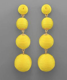 Proper Hunt Shopping Cart // Yellow BonBon Drop Earrings