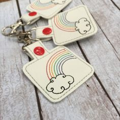 New to babymoon on Etsy: Rainbow Keyfob - ray of hope keyring for all of you looking for that silver lining after a rainstorm - keyring - bagcharm - zipper pull (9.99 USD)