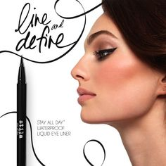 the easiest cat eye you'll ever see! Try Stila's best-selling Stay All Day Liquid Eye Liner to draw the perfect line, every time! $20.00 http://www.stilacosmetics.com/product/stay-all-day-waterproof-liquid-eye-liner.do?sortby=ourPicks