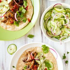 Crockpot Korean Beef Tacos with Cucumber Slaw Recipe Main Dishes with beef short…