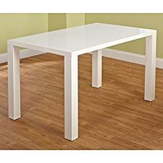 Simple Living Felix Glossy White Finished Classic Rectangular Shaped Dining Table (29.75 Inches High X 55.1 Inches Wide