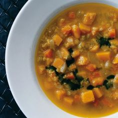 Curried-Squash and Red-Lentil Soup Gourmet