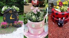 Kreativ mit Gummi! Machen Sie aus einem Autoreifen einen wunderschönen Pflanzkübel für den Garten!