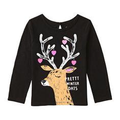 Joe Fresh T-shirt à Imprimé D'hiver Pour Petites Filles 5,55$