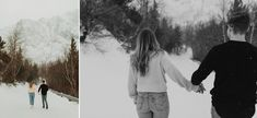 Gorgeous Mountain and Waterfall Couple Shoot in Waterton National Park shot by Alberta Wedding Photographer Havilah Heger. Waterton Couple Shoot at Cameron Falls Outdoor Engagement Photos, Mountain Engagement Photos, Our Wedding Day, Boho Wedding, Destination Wedding, Waterton Lakes National Park, National Parks, Winter Photos, Couple Shoot