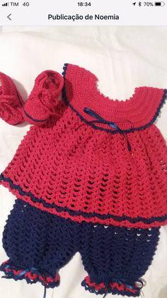 """""""Billedresultat for free Baby Girl Crochet, Cute Crochet, Crochet For Kids, Knit Crochet, Crochet Quilt, Baby Doll Clothes, Crochet Doll Clothes, Girls Sweaters, Baby Sweaters"""
