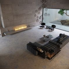 Concrete Paving, Concrete Wall, Loft Wall, Loft Style, Wall Tiles, Industrial Style, Living Spaces, Living Room, Stoneware