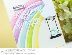 Project by Ashley Cannon Newell for Papertrey Ink - May 2016 - #AshleyCannonNewell #PaperSuite #PapertreyInk - Make It Market Mini Kit: Sunshine & Rainbows + Rainbow XL die