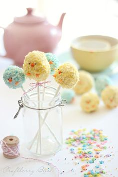 Craftberry Bush: *Rice Krispies Easter bunny pop tutorial