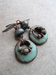 rustic rings a go go artisan ceramic lampwork and copper wire