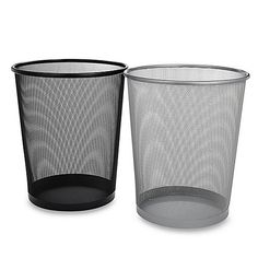 Seville® Mesh Metal Trash Can: The attractive Seville Mesh Metal Trash Can is both stylish and useful. Featuring solid metal bases and sturdy mesh frames, this new take on a classic design is the perfect addition to your bedroom, bathroom, or home office. Bedroom Trash Can, College Dorm Essentials, Bath Storage, Trash Bins, Modern Bathroom Decor, Bedroom Accessories, Bedding Shop, Dorm Decorations, Cleaning Supplies
