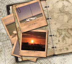 Travel Journal Tutorial shows how to create polaroid pictures and vintage background pages using photoshop